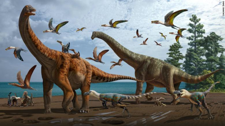 Two new dinosaur species, as big as a blue whale, discovered in China