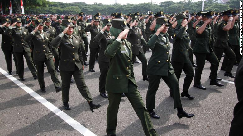 Indonesian army says it has stopped invasive 'virginity tests' on female cadets