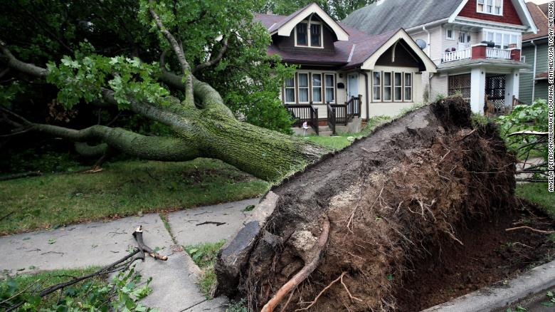 Storms in the Midwest leave more than a million without power