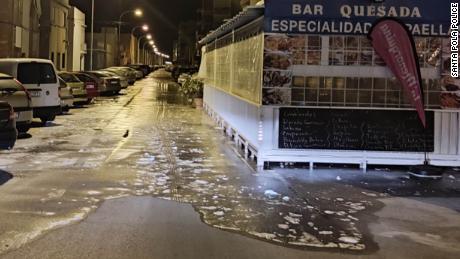 Alicante zostało dotknięte przez powodzie.