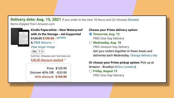 You can get a discount on Amazon's Kindle Paperwhite if you have a targeted Discover credit card.