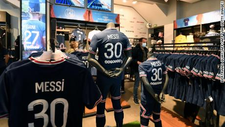 Lionel Messi shirts have been in high demand at PSG's club stores.