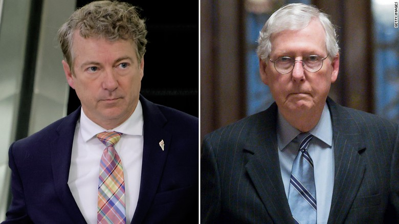A tale of two Kentuckians: Paul and McConnell diverge as Covid cases rise
