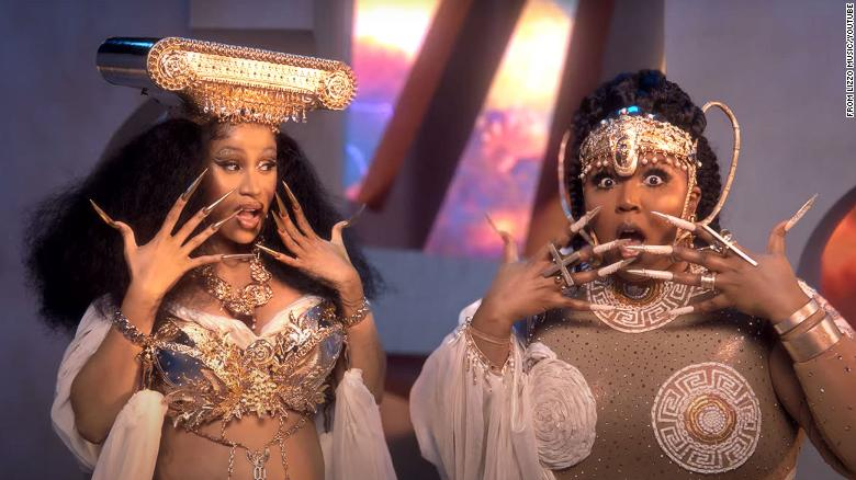 Lizzo and Cardi B dropped the video for 'Rumors'