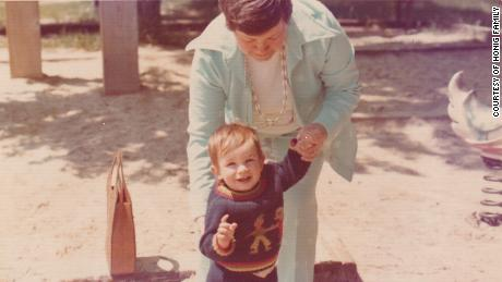 Elie Honig, at age 2, with his grandmother, Gusta Honig.