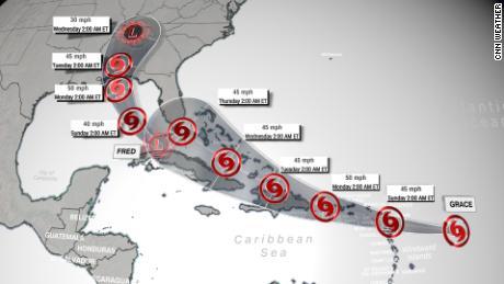 La depressione tropicale nei prossimi cinque giorni La canzone di Fred e Tropical Storm Grace è stata pubblicata sabato mattina.