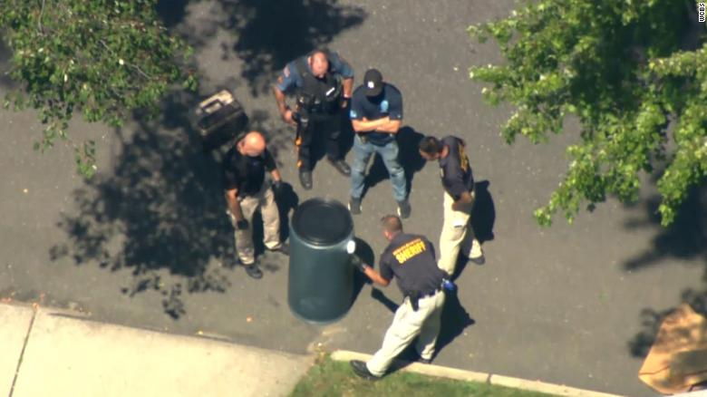 Human remains discovered in a plastic container left on a street in a New Jersey neighborhood
