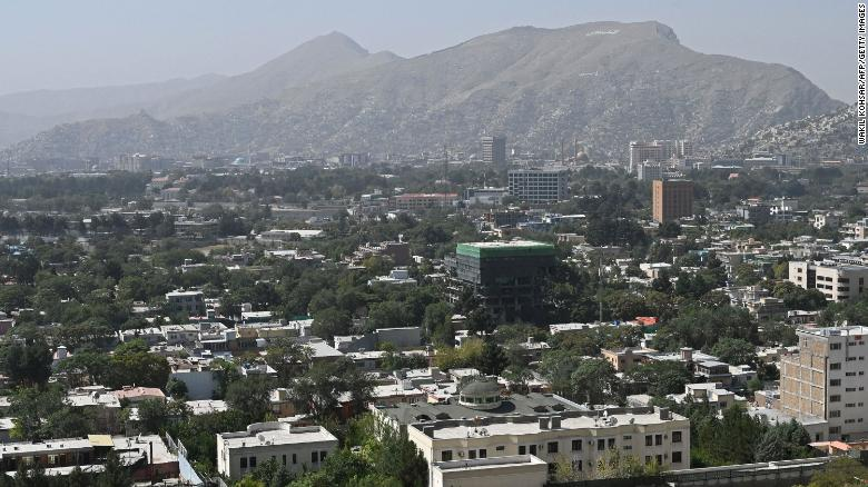 A general view of Kabul on Sunday.