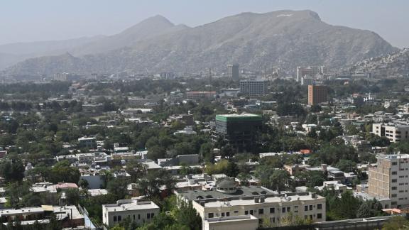 Μια γενική άποψη της Καμπούλ την Κυριακή.