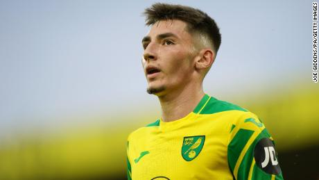 Norwich City's Billy Gilmour is playing for the club on loan from Chelsea.