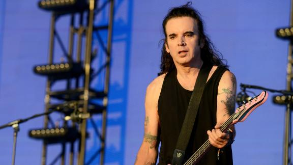 Simon Gallup of The Cure performs in Hyde Park on July 7, 2018, in London.