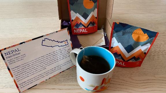 Caja de té con cafeína Atlas