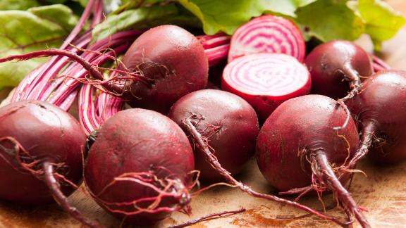 Amanda Cohen has swapped in golden or red beets for candy cane beets like the ones seen here.