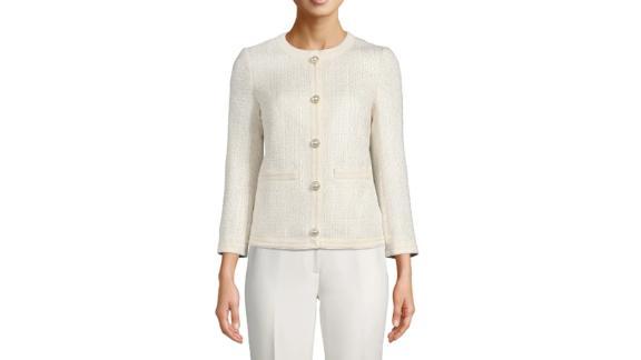 Anne Klein Collarless Jacket