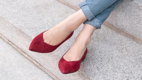 Ally Shoes Gutsy Garnet Suede Flat