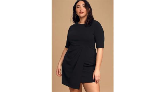 Lulus Westwood Black Half Sleeve Sheath Dress