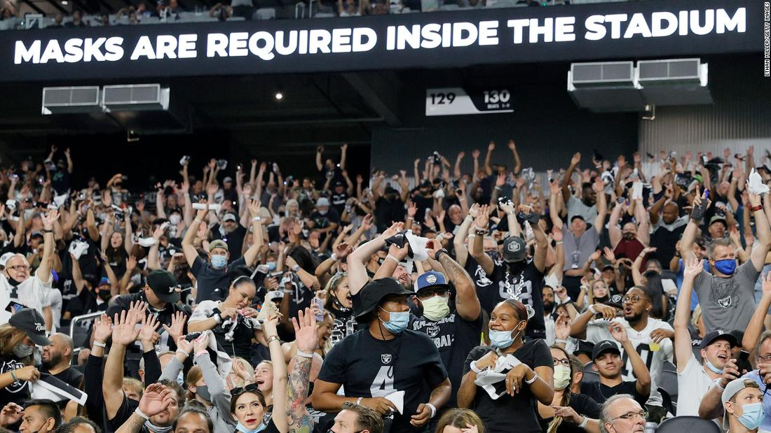 Las Vegas Raiders will require fans to provide proof of Covid-19 vaccination at home games