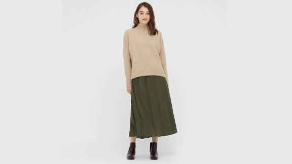Uniqlo Wide Pleated Skirt