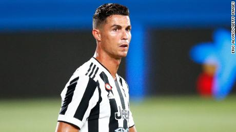 Juventus' Cristiano Ronaldo looks on during the Joan Gamper Trophy match between Barcelona and Juve at the Estadi Johan Cruyff on August 08, 2021 in Barcelona.