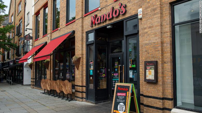 Nando's closes 45 restaurants after running short of chicken