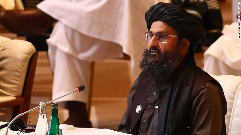 Taliban co-founder Mullah Abdul Ghani Baradar in Doha last year. Baradar returned to Afghanistan on Tuesday after two decades.