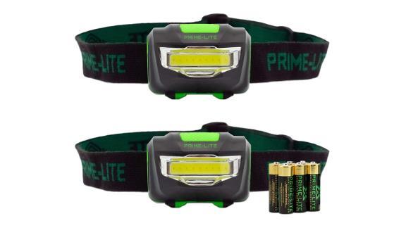 Prime-Lite 2 Pack LED Headlamp Flashlight With Batteries