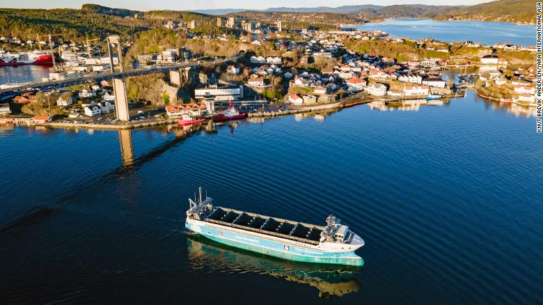 The Yara Birkeland is what its builders call the world's first zero-emission, autonomous cargo ship. The ship is scheduled to make its first journey between two Norwegian towns before the end of the year. <strong>Click through to see more forms of transport set to transform the future.</strong>