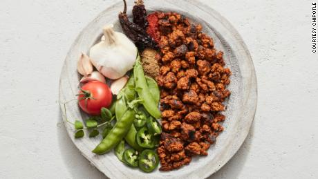 Chipotle's plant-based chorizo is on sale in two US cities.