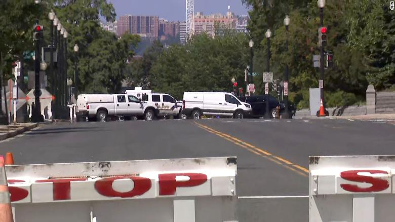Police responding to claims of suspected explosives in a vehicle near US Capitol