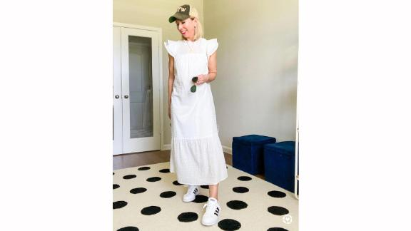 Who What Wear Ruffle Short Sleeve Dress