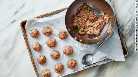 Meatballs are a classic pasta addition for a reason -- they're so good! If fresh is too much to tackle, just thaw out some frozen ones.