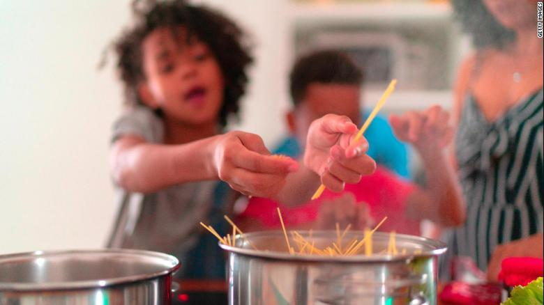 Give tweens and teens the pasta tongs and let dinner magic happen