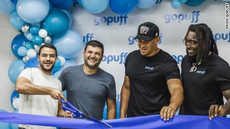 GoPuff founders Rafael Ilishayev and Yakir Gola launching a Micro-Fulfillment Center in Dallas in July 2021.