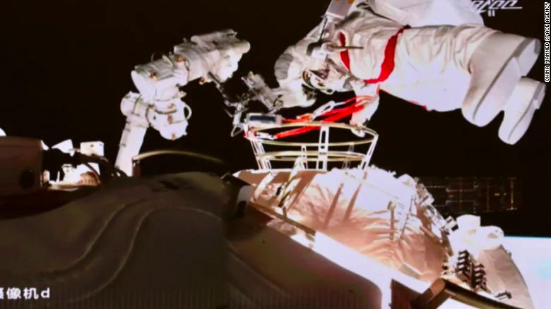 Chinese astronauts conduct second spacewalk outside planned space station