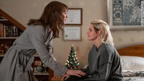 """In """"Happiest Season,"""" released on Hulu in 2020, Mackenzie Davis and Kristen Stewart starred as a couple going home for the holidays for the first time."""