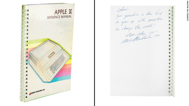 An Apple II manual signed by Steve Jobs just sold for nearly $800,000