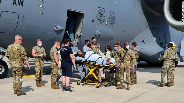 Afghan woman delivers baby aboard US evacuation aircraft