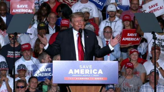 Image for Trump booed after encouraging Covid-19 vaccines at Alabama rally