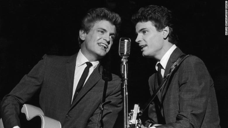"""<a href=""""https://www.cnn.com/2021/08/23/entertainment/don-everly-death-obit/index.html"""" target=""""_blank"""">Don Everly,</a> the last of the silken-voiced Everly Brothers music duo, died August 21 at the age of 84. He's on the right here performing with his younger brother, Phil, in 1962. The two became pop idols in the late 1950s with chart-topping hits such as """"Bye Bye Love,"""" """"All I Have to Do is Dream"""" and """"Wake Up Little Susie."""""""