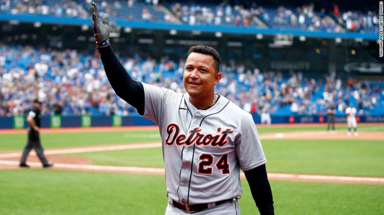 Miguel Cabrera becomes the 28th baseball player to join the 500 home run club