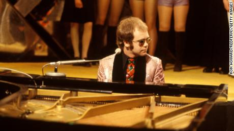"""Elton John performs on """"Top of the Pops,"""" April 1, 1972."""
