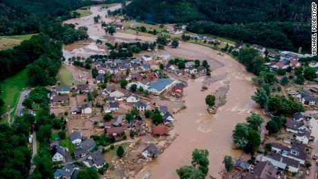 La rivière Ahr à Insul, en Allemagne, le 15 juillet 2021 après de fortes pluies.