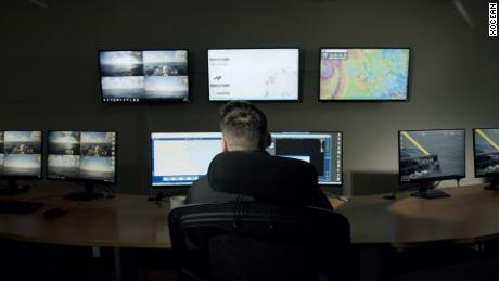 The vessel sends real time images and situational data to XOCEAN's control room.