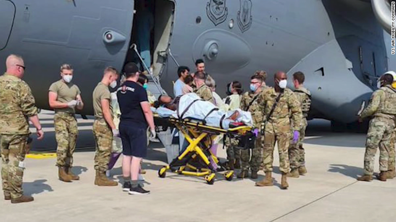 """Baby born on Afghanistan evacuation flight named """"Reach"""" after the aircraft call sign"""