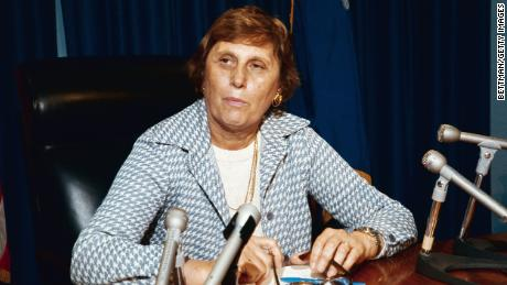 Ella T. Grasso, Governor of Connecticut, in her office in an undated photo.