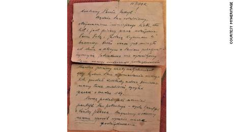 The letter was recently discovered by Jurzyk's father, but the old-style Polish made it hard to decipher.