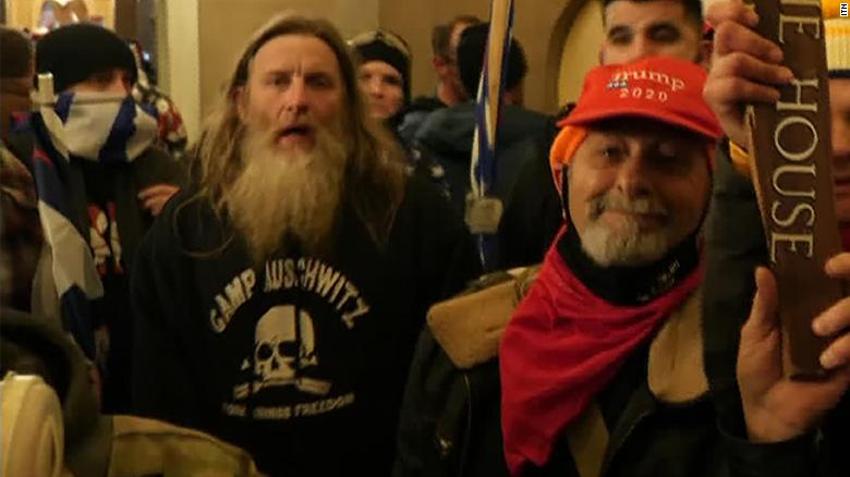 Justice Department offers plea deal to Capitol rioter who wore 'Camp Auschwitz' sweatshirt