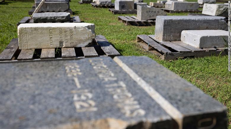 Headstones in historic Black cemetery were desecrated. The recovery offers 'symbolic justice'