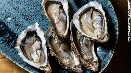 Oysters are fairly high in omega-3s.