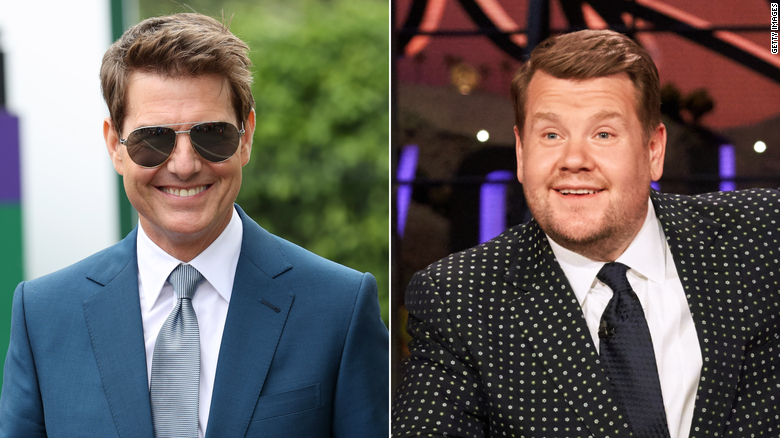 Tom Cruise wanted to land his helicopter in James Corden's yard